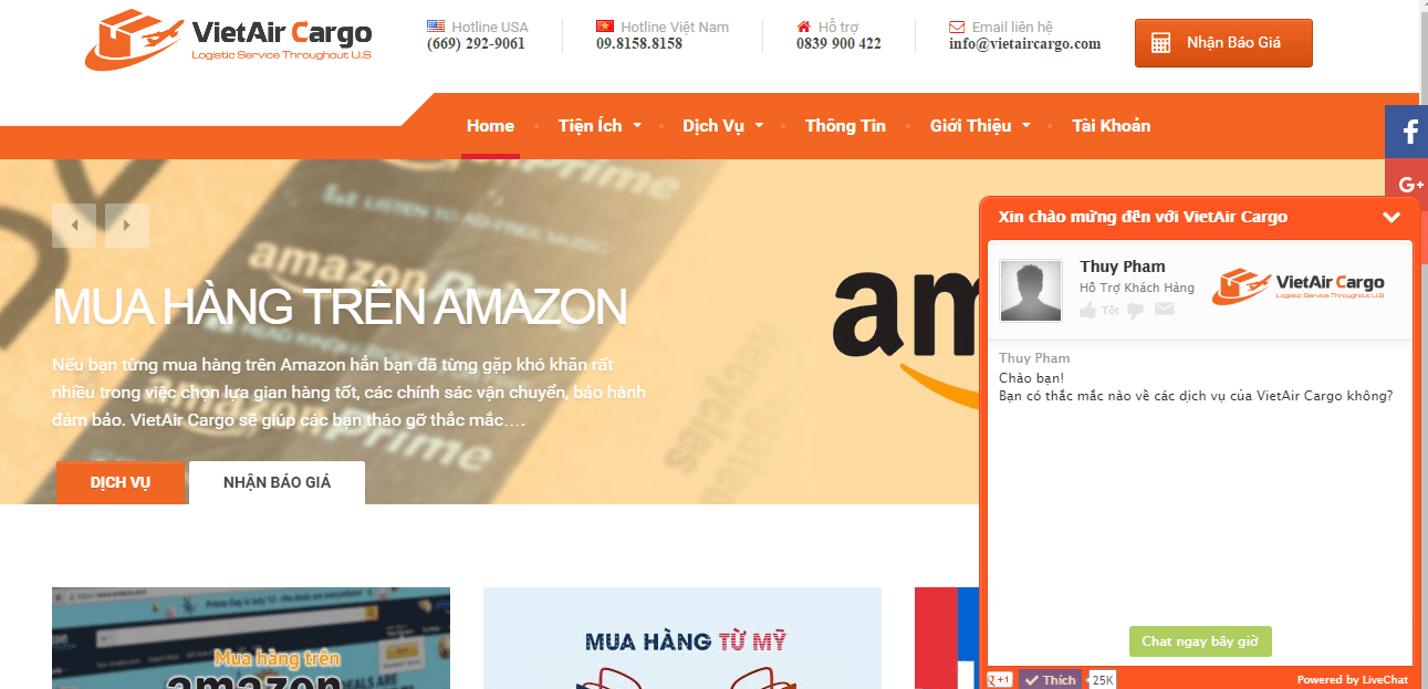 Mua hàng trên amazon với dịch vụ amazon vietnam