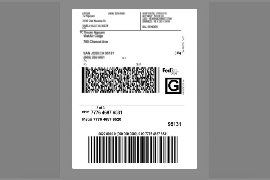 It is a photo of Resource Fedex Make Shipping Label