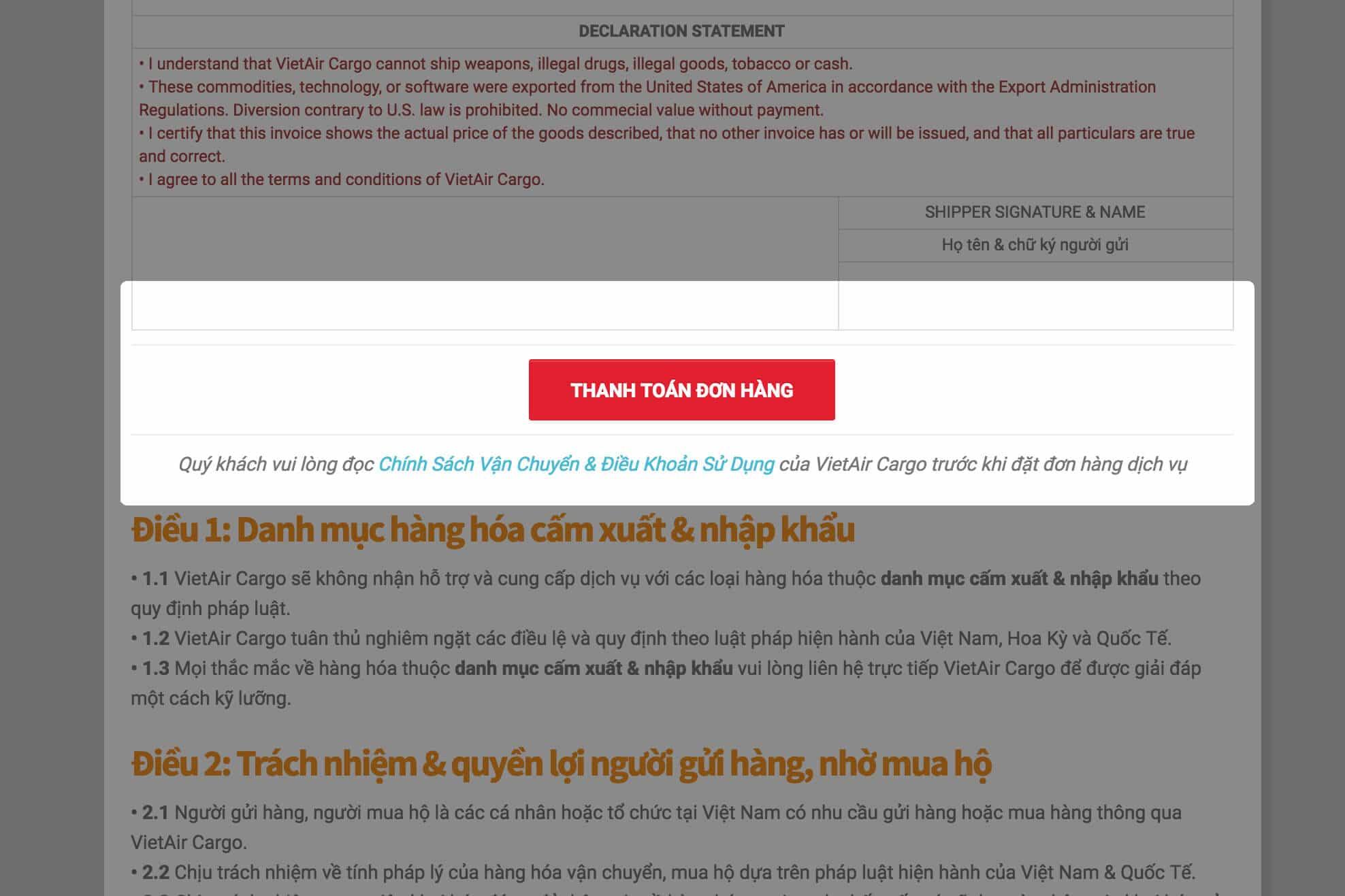 thanh-toan-don-hang Thủ tục gửi hàng từ Mỹ về Việt Nam