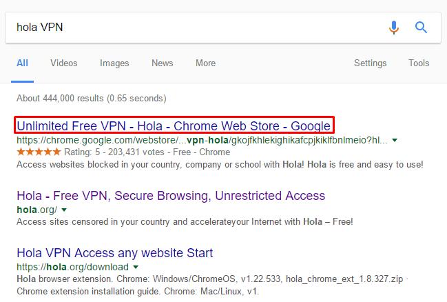 Hướng dẫn vào website Mỹ bị chặn bằng hola