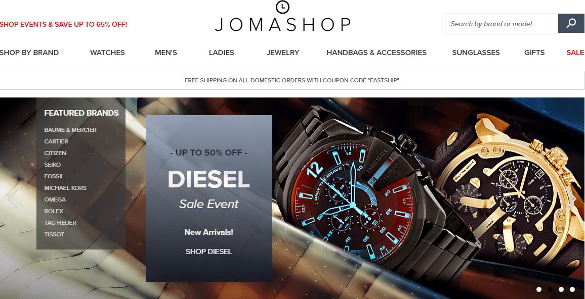 mua-dong-ho-tren-jomashop Kinh nghiệm hay mua đồng hồ trên Jomashop với VietAir Cargo