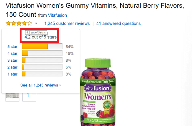 danh-gia-keo-vitamin-womens-vitafusion-tren-amazon Kẹo Vitamin Dành Cho Phụ Nữ – Vitafusion Women's Multivitamin 220 Viên