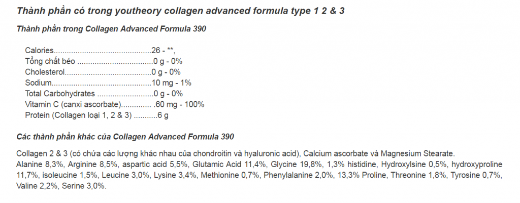 thanh-phan-collagen-youtheory-123-390-vien-cua-my-1024x401 Thuốc viên uống Collagen Youtheory 123 lọ 390 viên của Mỹ có tốt không?
