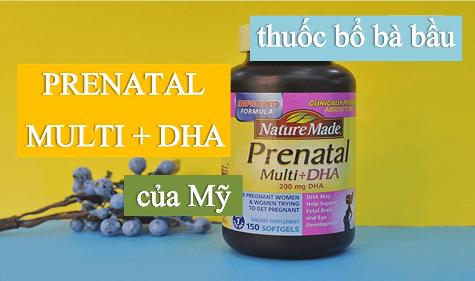 thuoc-bo-ba-bau-Nature-Made-Prenatal-Multi-DHA THUỐC BỔ BÀ BẦU NATURE MADE® PRENATAL MULTI DHA 150 VIÊN