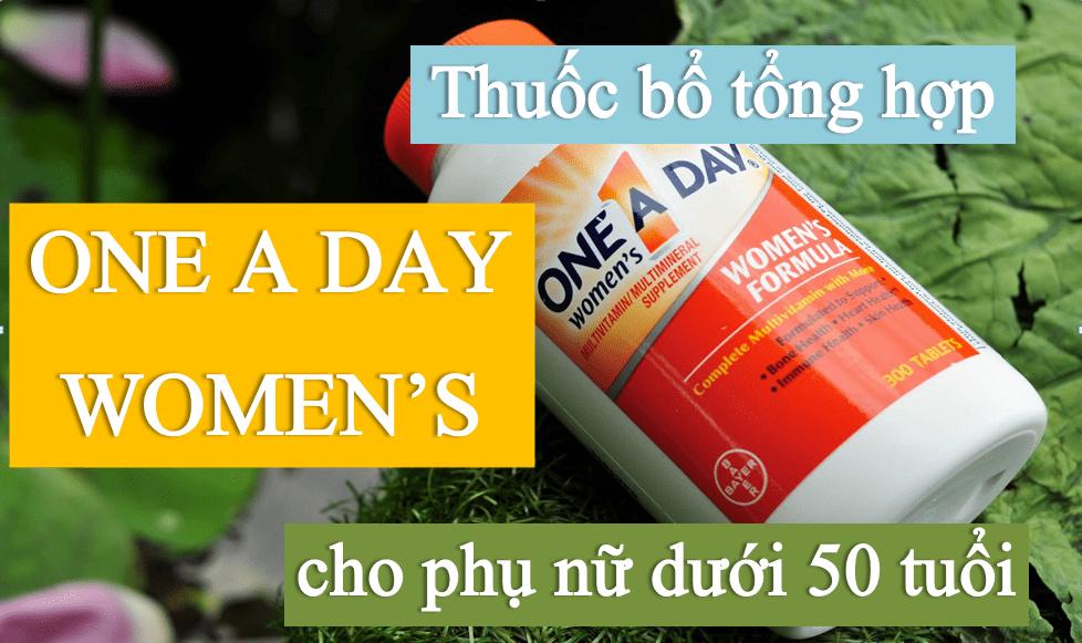 thuoc-bo-tong-hop-one-a-day-womens-cho-phu-nu-duoi-50 THUỐC BỔ TỔNG HỢP DÀNH CHO PHỤ NỮ ONE A DAY® WOMEN'S MULTIVITAMINS 300 VIÊN