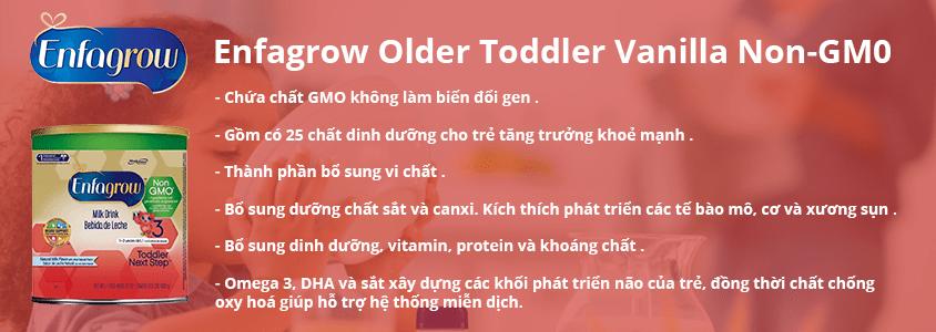 sua-Enfagrow-Older-Toddler-Vanilla-non-gmo Sữa Enfagrow Older Toddler Vanilla số 3 của Mỹ cho trẻ từ 1-3 tuổi