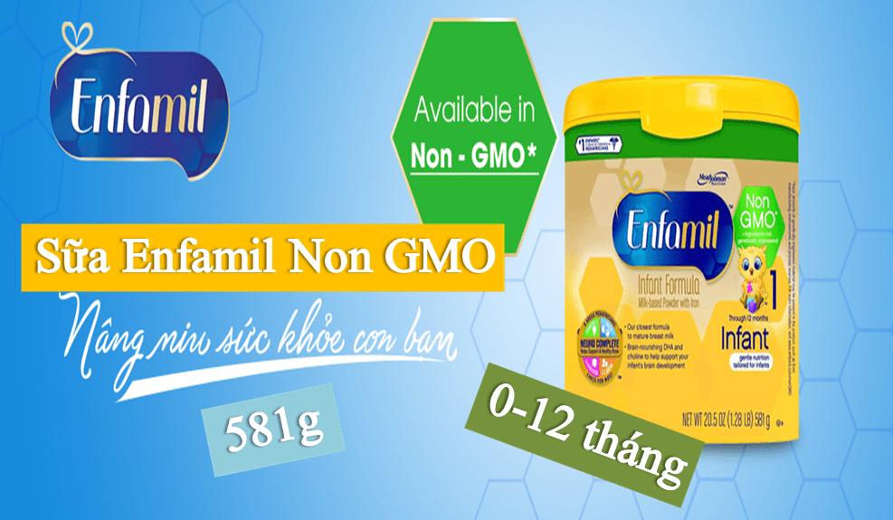 sua-enfamil-non-gmo-581g Sữa Enfamil Non GMO (581g) dành cho bé từ 0-12 tháng tuổi của Mỹ