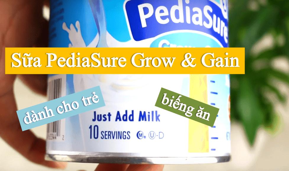 sua-pediasure-danh-cho-tre-bieng-an-2 Sữa Pediasure Shake Mix hương Vanilla dành cho trẻ biếng ăn 396g của Mỹ
