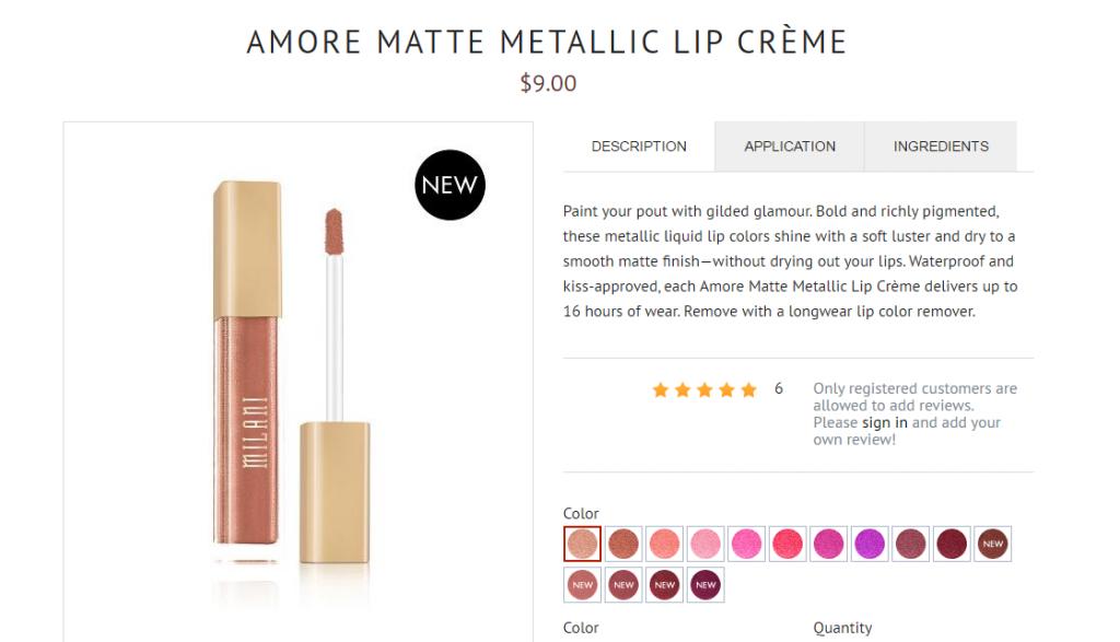 """thoi-son-Amore-Matte-Metallic-Lip-Crème-1024x587 """"Mách nhỏ"""" chị em 5 thỏi son chất lừ giá bình dân năm 2017"""