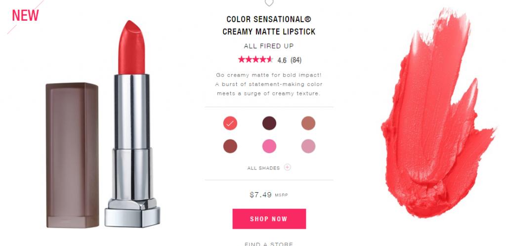 """thoi-son-Maybelline-Color-Sensational-Bold-Matte-Lipstick-1024x498 """"Mách nhỏ"""" chị em 5 thỏi son chất lừ giá bình dân năm 2017"""