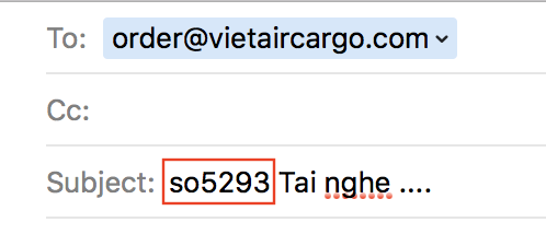 so-info Instructions to ship self-ordered packages to VN