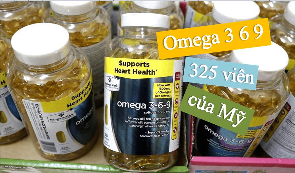 vien-uong-omega-3-6-9-325-vien-cua-my VIÊN UỐNG DẦU CÁ OMEGA 3-6-9 SUPPORTS HEART HEALTH 1600MG 325 VIÊN