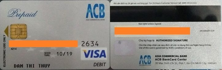 visa-debit1 Instructions to ship self-ordered packages to VN