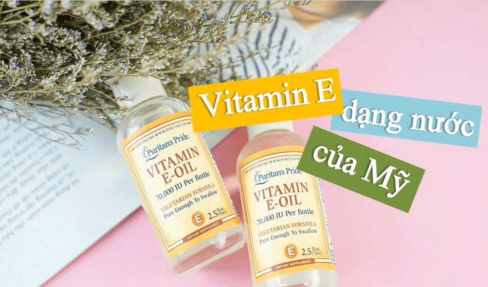 vitamin-e-dang-nuoc Vitamin E-Oil tinh khiết Puritan's Pride 30.000IU dạng nước 74ML
