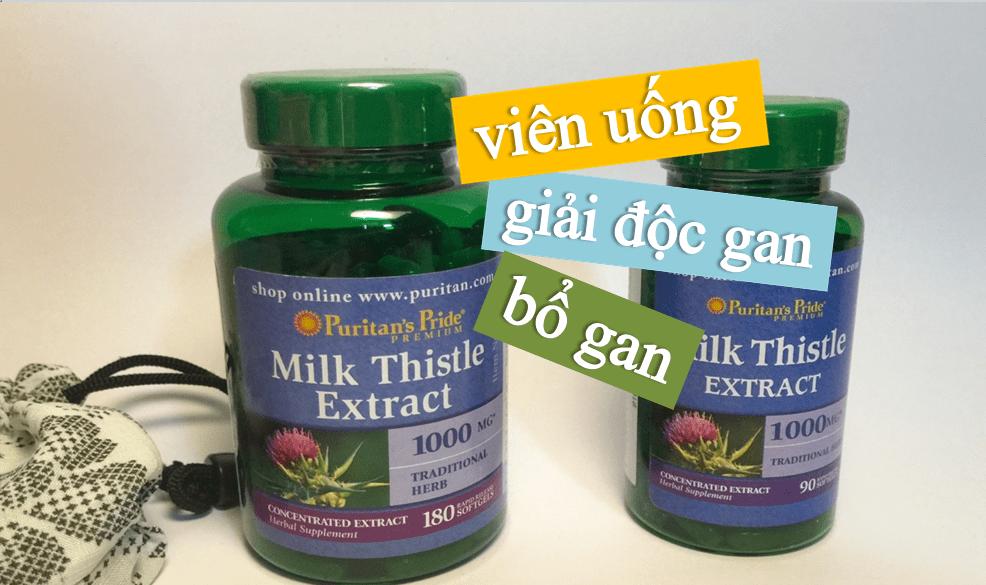 vien-uong-bo-gan-milk-thistle-extract Viên uống bổ gan Milk Thistle 1000mg Puritan Pride của Mỹ