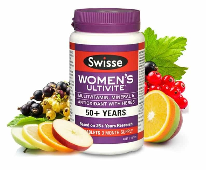 Image result for Vitamin Tổng Hợp Cho Phụ Nữ Trên 50 Tuổi - Swisse Womens Ultivite 50+