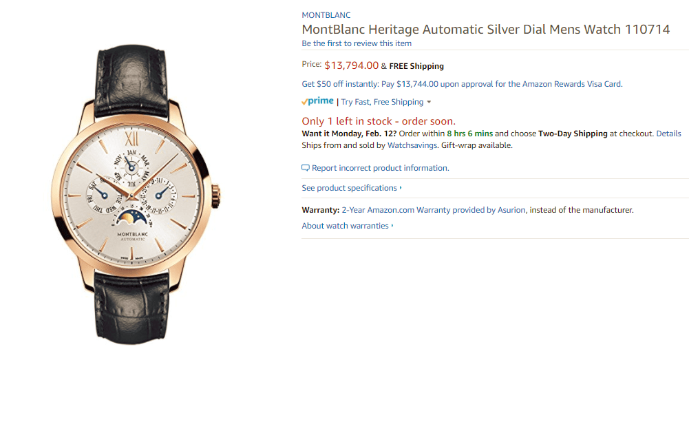 dong-ho-Montblanc Nhận định về thương hiệu đồng hồ Montblanc