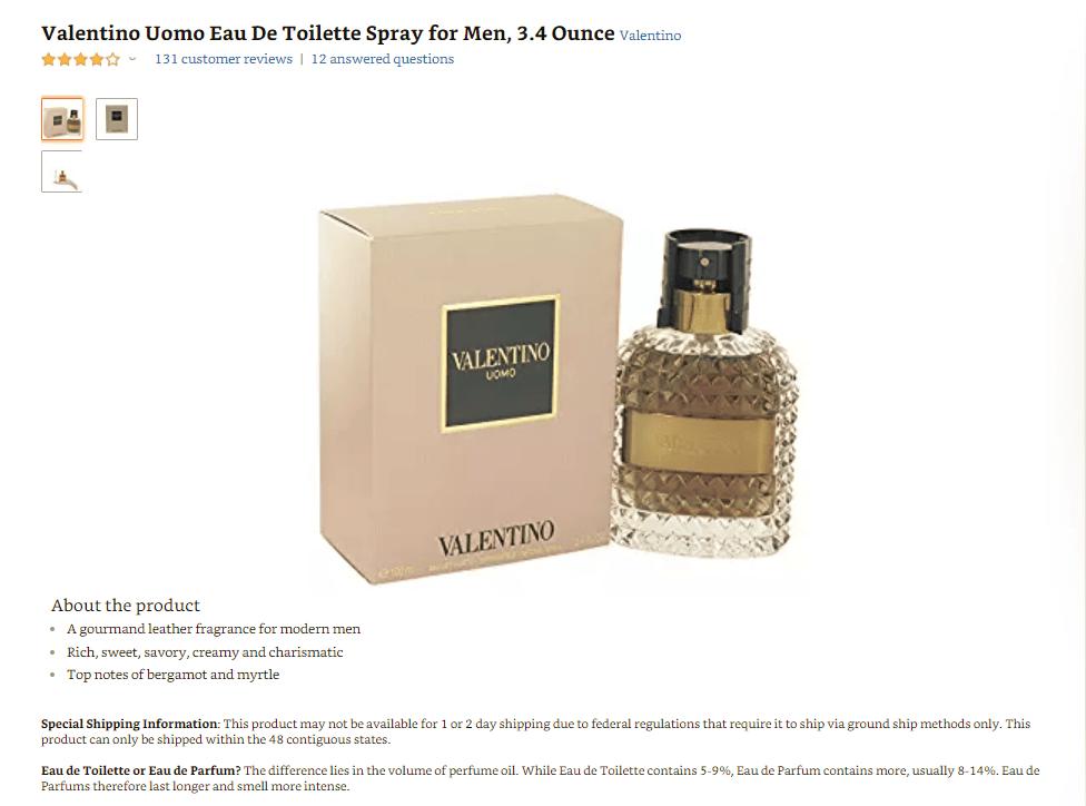 nuoc-hoa-cao-cap-Valentino Những điều bạn nên biết về thương hiệu nước hoa Valentino