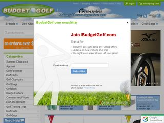httpwwwbudgetgolfcom Online Shopping Websites