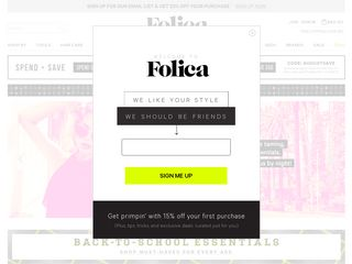 httpwwwfolicacom Online Shopping Websites