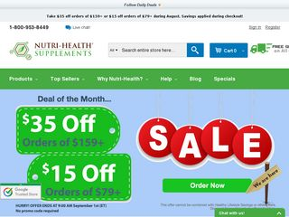 httpwwwnutrihealthcom Online Shopping Websites