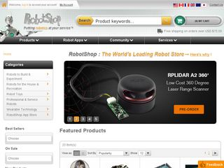 httpwwwrobotshopcom Online Shopping Websites