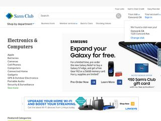 httpwwwsamsclubcomsamselectronics1086cpscatId1086 Online Shopping Websites