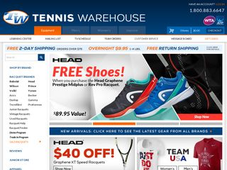 httpwwwtenniswarehousecom Online Shopping Websites